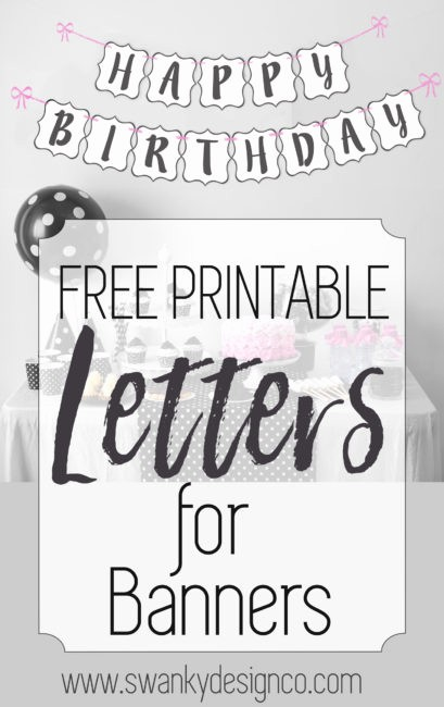 How to Make Banner Letters Inspirational Free Printable Black and White Banner Letters