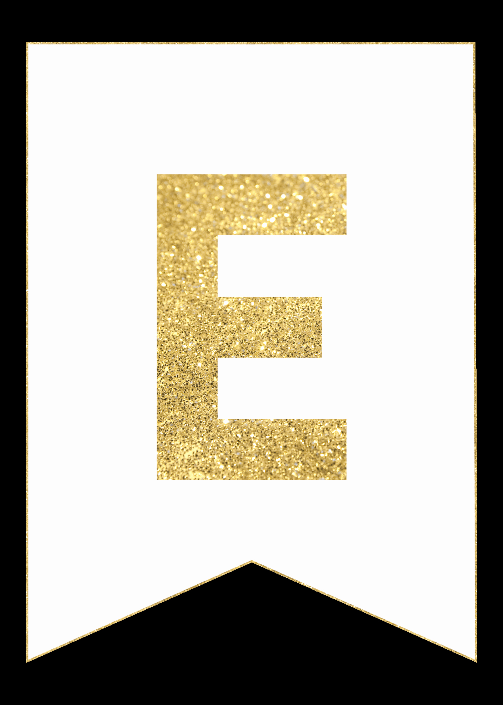 How to Make Banner Letters Inspirational Gold Free Printable Banner Letters Paper Trail Design