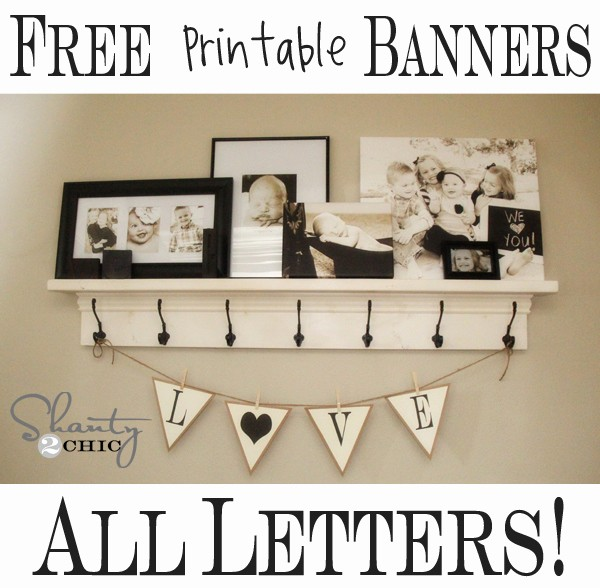 How to Make Banner Letters Inspirational More Free Printable Banners Numbers & Shapes Shanty