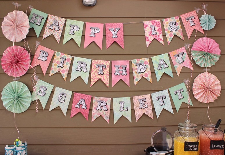 How to Make Banner Letters Lovely 15 Adorable Diy Birthday Banners