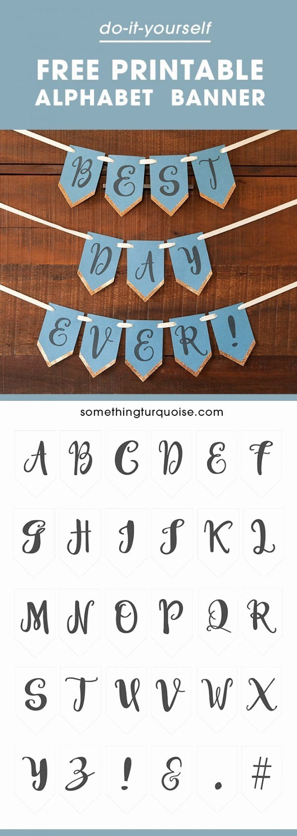 How to Make Banner Letters Lovely Free Printable Full Alphabet Banner – Party Ideas