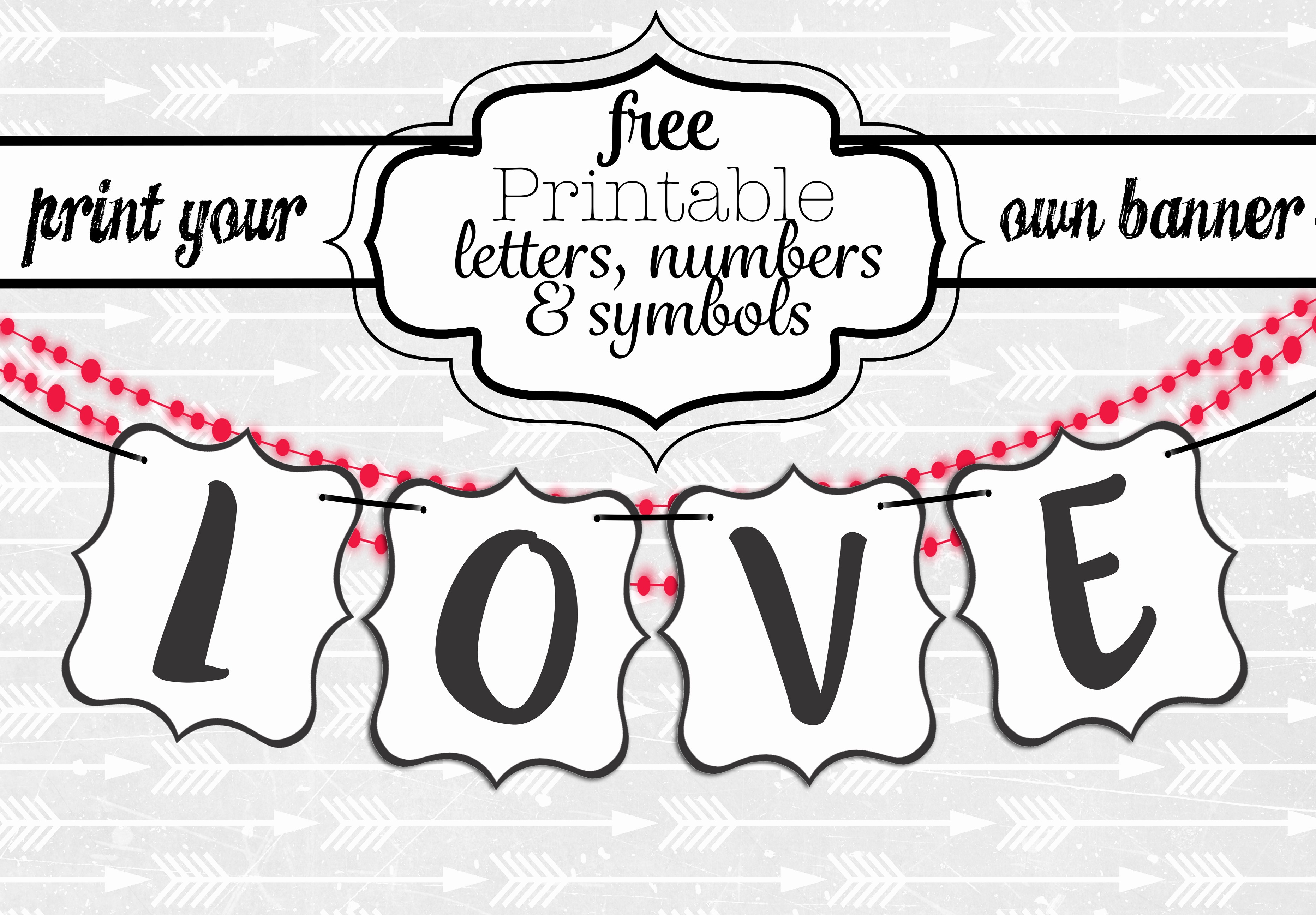 How to Make Banner Letters Lovely Free Printable Letters for Banners Entire Alphabet