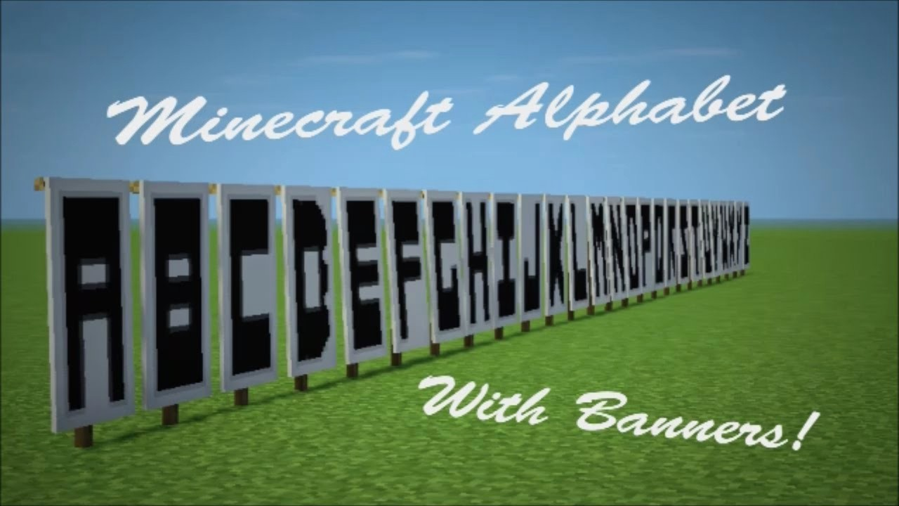 How to Make Banner Letters Lovely Minecraft Banner Letters