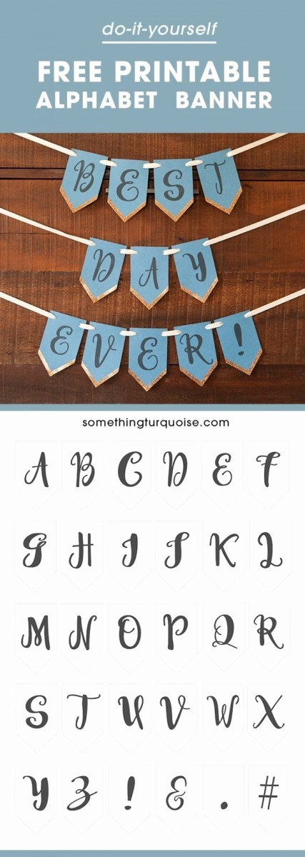 How to Make Banner Letters Luxury Free Printable Full Alphabet Banner – Party Ideas