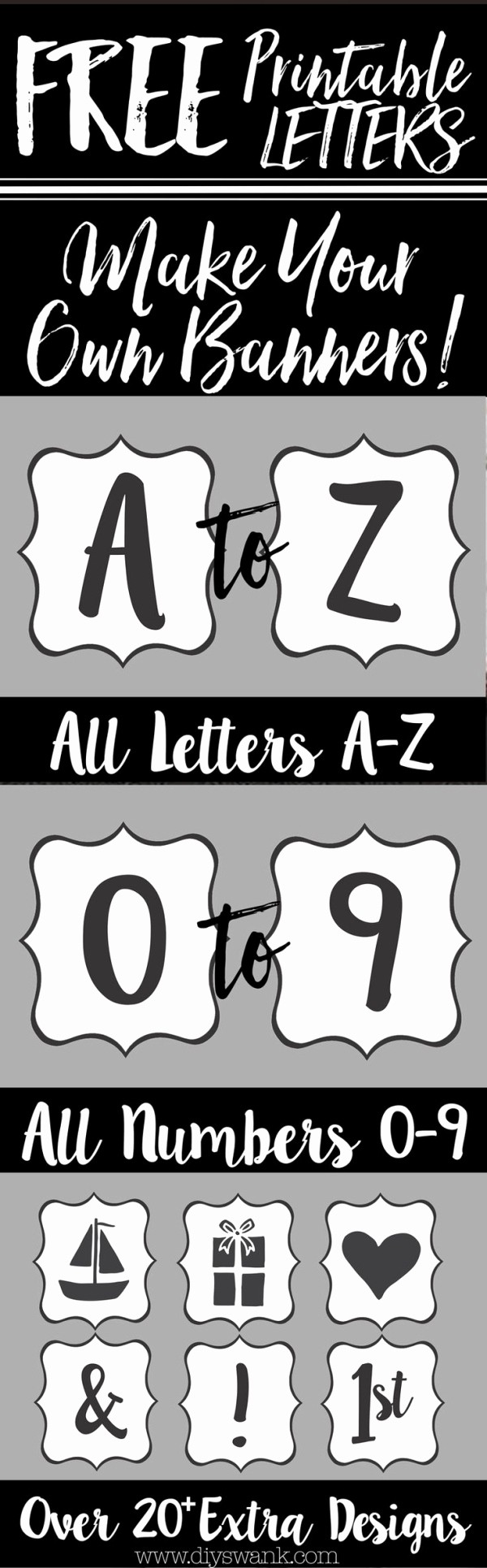 How to Make Banner Letters New Create Your Own Banner with these Free Printable Letters