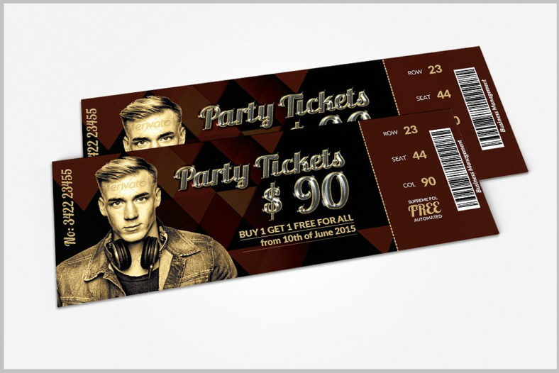 How to Make Concert Tickets Awesome 11 Concert Ticket Templates