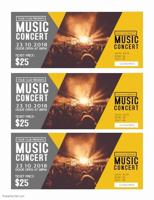 How to Make Concert Tickets Awesome Concert Tickets Template