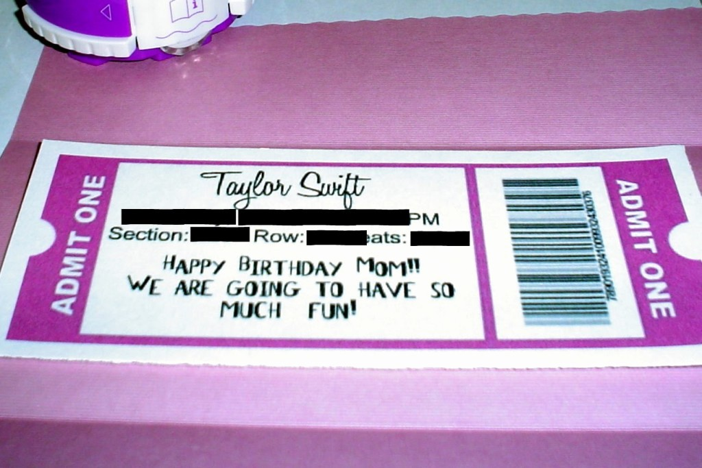 How to Make Concert Tickets Awesome Lovely Taylor Swift Concert Ticket Template for Birthday