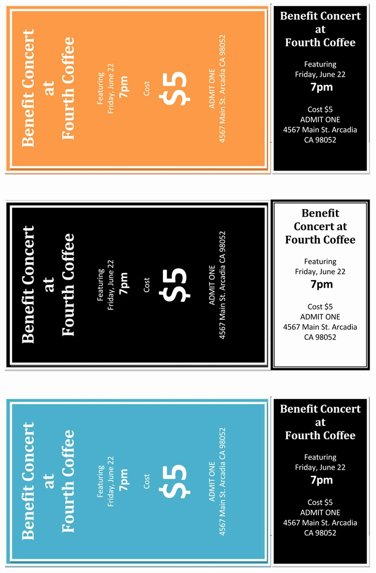 How to Make Concert Tickets Beautiful 12 Free event Ticket Templates for Word Make Your Own