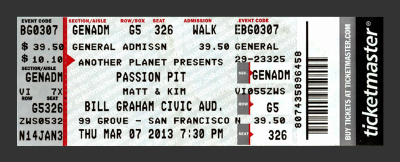 How to Make Concert Tickets Beautiful Redesigning Concert Tickets Creativepro