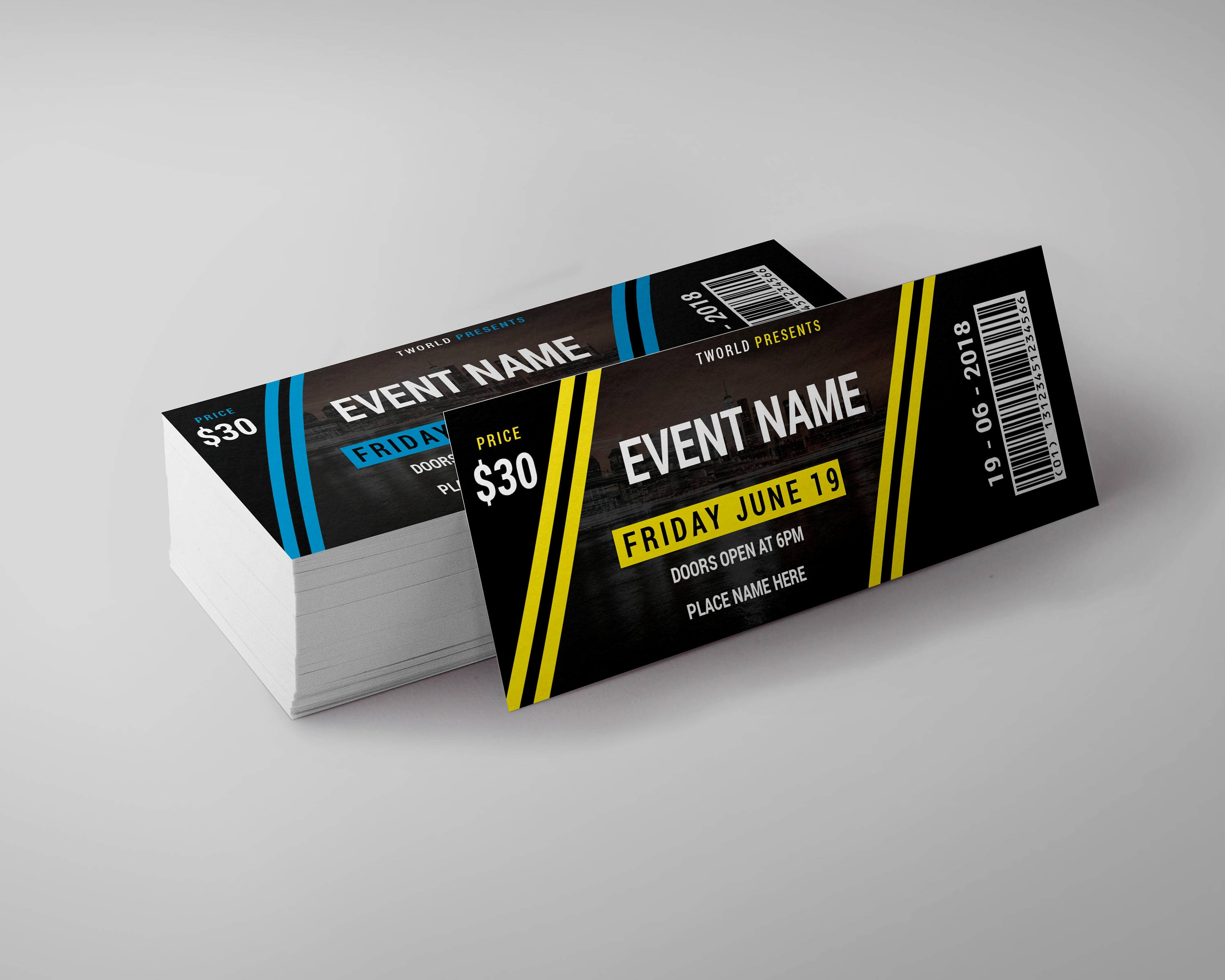 How to Make Concert Tickets Beautiful Tickets Design Template event Ticket Party Ticket
