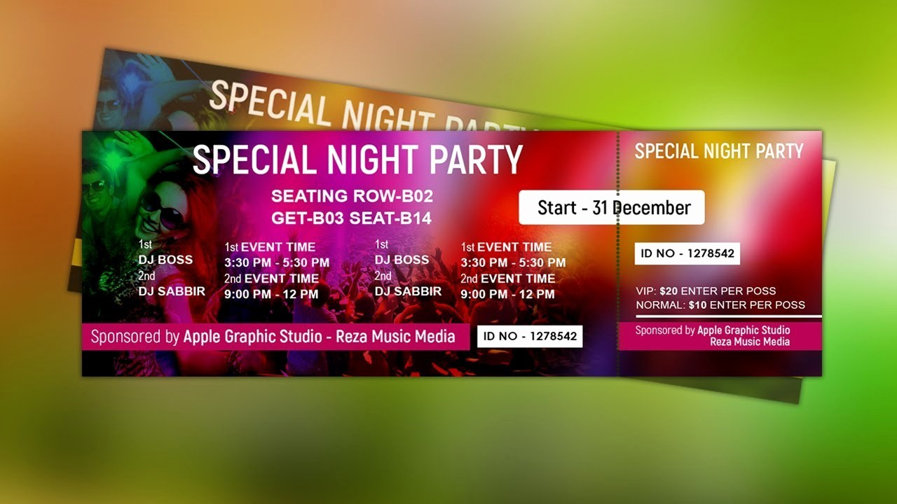 How to Make Concert Tickets Best Of How to Design event Ticket Template Shop Tutorial