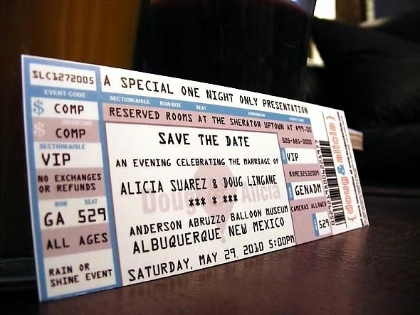 How to Make Concert Tickets Elegant Invitations that Look Like Concert Tickets Cobypic