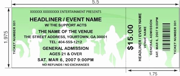 How to Make Concert Tickets Inspirational Concert Tickets Design and Print Your Own for A Create