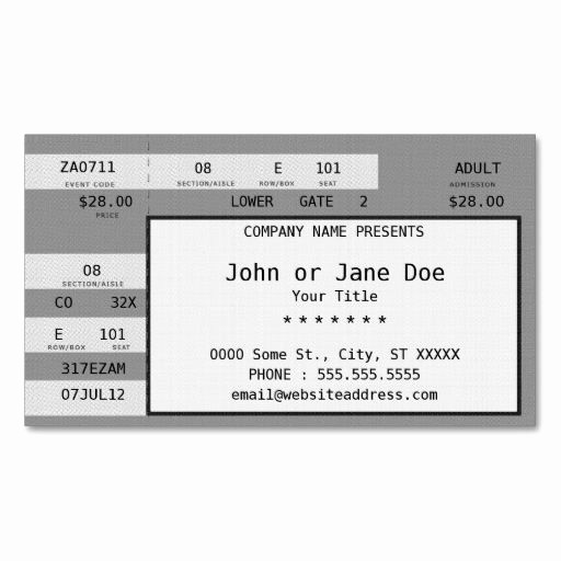 How to Make Concert Tickets Luxury 17 Best Ideas About Concert Ticket Template On Pinterest