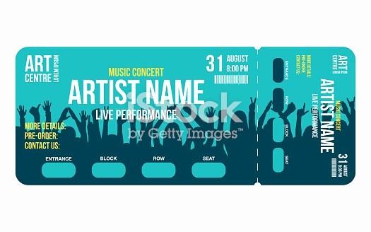 How to Make Concert Tickets Luxury Konzertticketvorlage Konzert Party Oder Festival