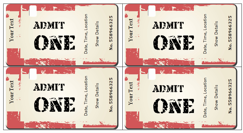 How to Make Concert Tickets Unique 6 Ticket Templates for Word to Design Your Own Free Tickets