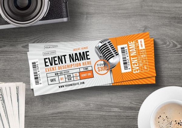 How to Make Concert Tickets Unique Sleek Concert Ticket Template for Only $6