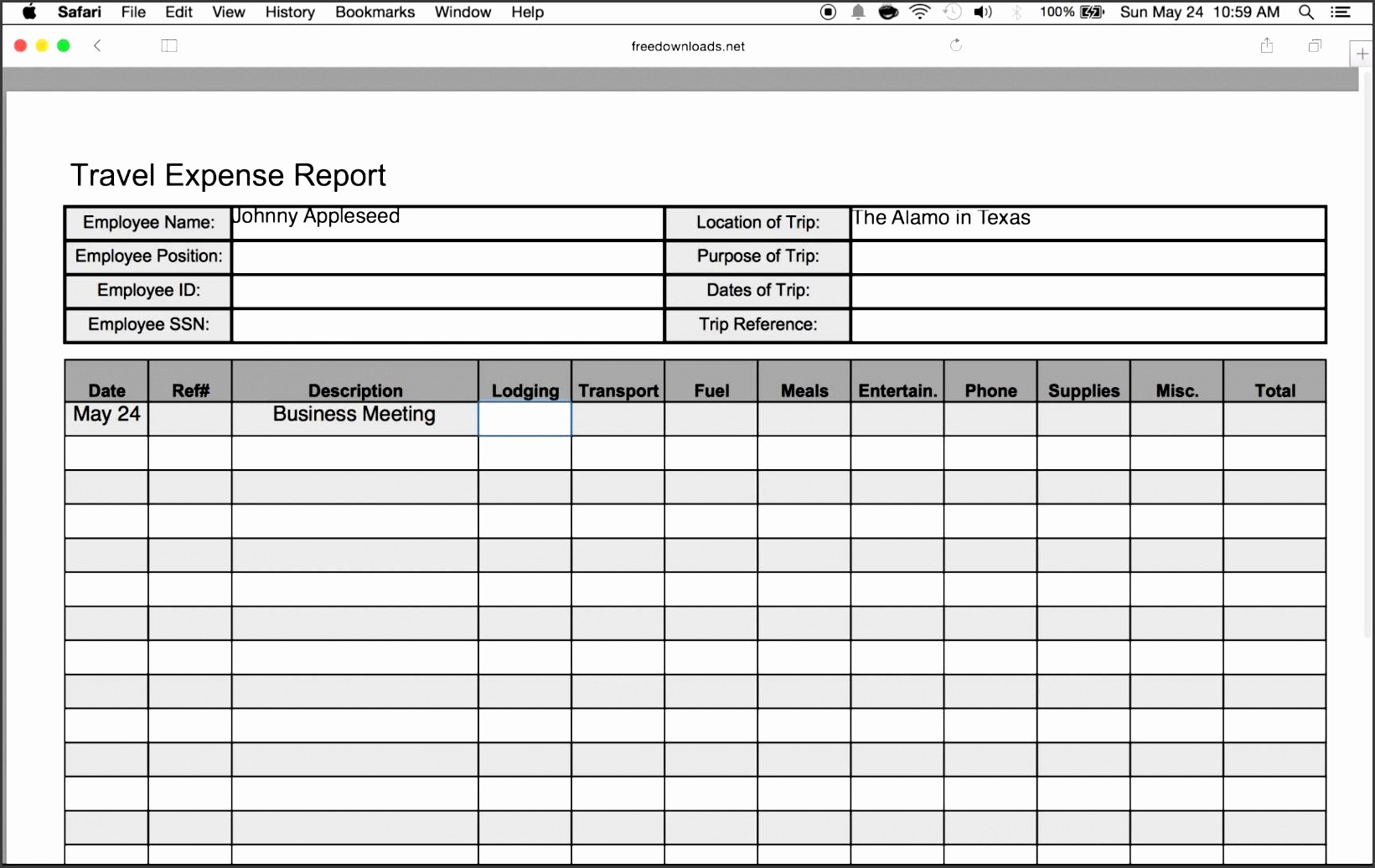 How to Make Expense Report Awesome 10 Expense Report Template Sampletemplatess