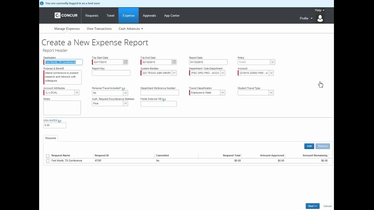 How to Make Expense Report Beautiful How to Create An Expense Report From An Approved Request