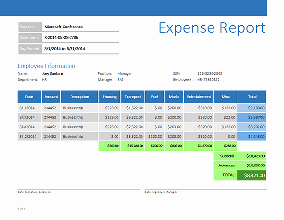 How to Make Expense Report Elegant Reporting Expense Report with Business Objects