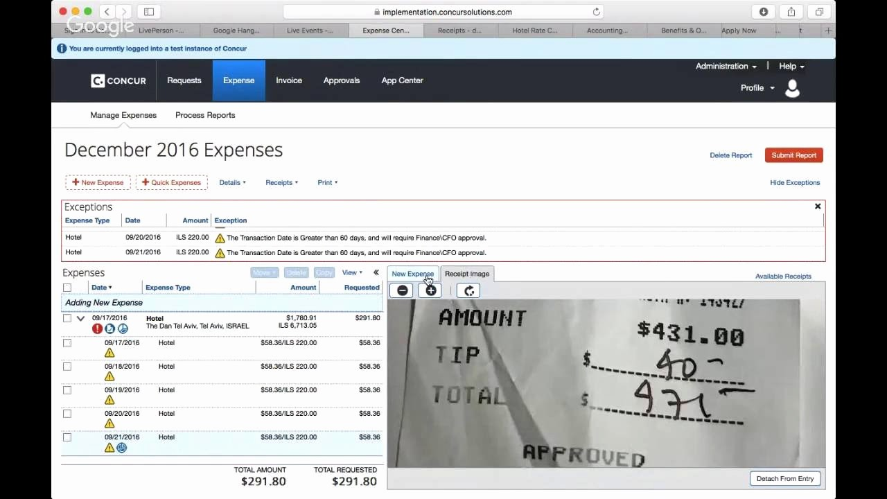 How to Make Expense Report Lovely Concur How to Submit An Expense Report