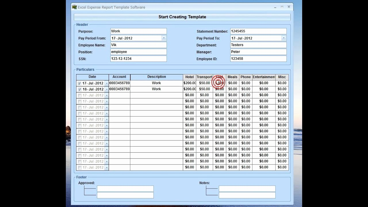 How to Make Expense Report Lovely Excel Expense Report Template software