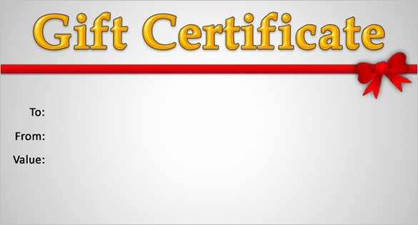 How to Make Gift Certificate Beautiful 15 New Gift Certificate Templates