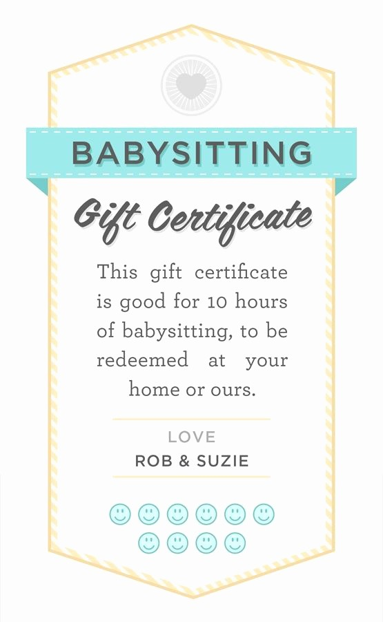 How to Make Gift Certificate Beautiful Babysitter Date Night Printable