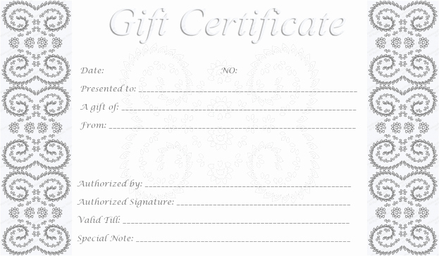 How to Make Gift Certificate Inspirational Blank Gift Certificate Template Example Mughals