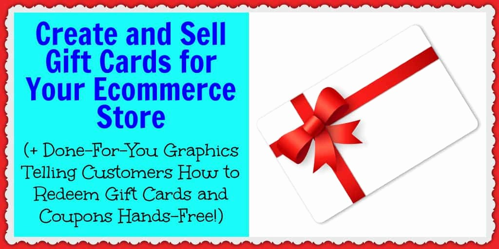 How to Make Gift Certificate Inspirational Create and Sell Gift Cards for Your E Merce Store