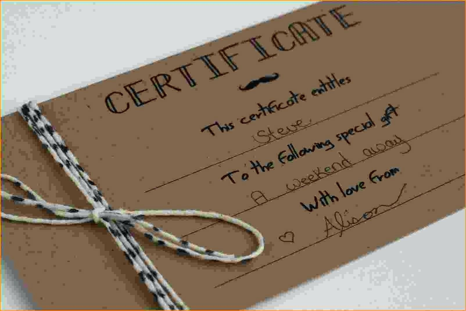 How to Make Gift Certificate Lovely Template Homemade Christmas Gift Certificate Template