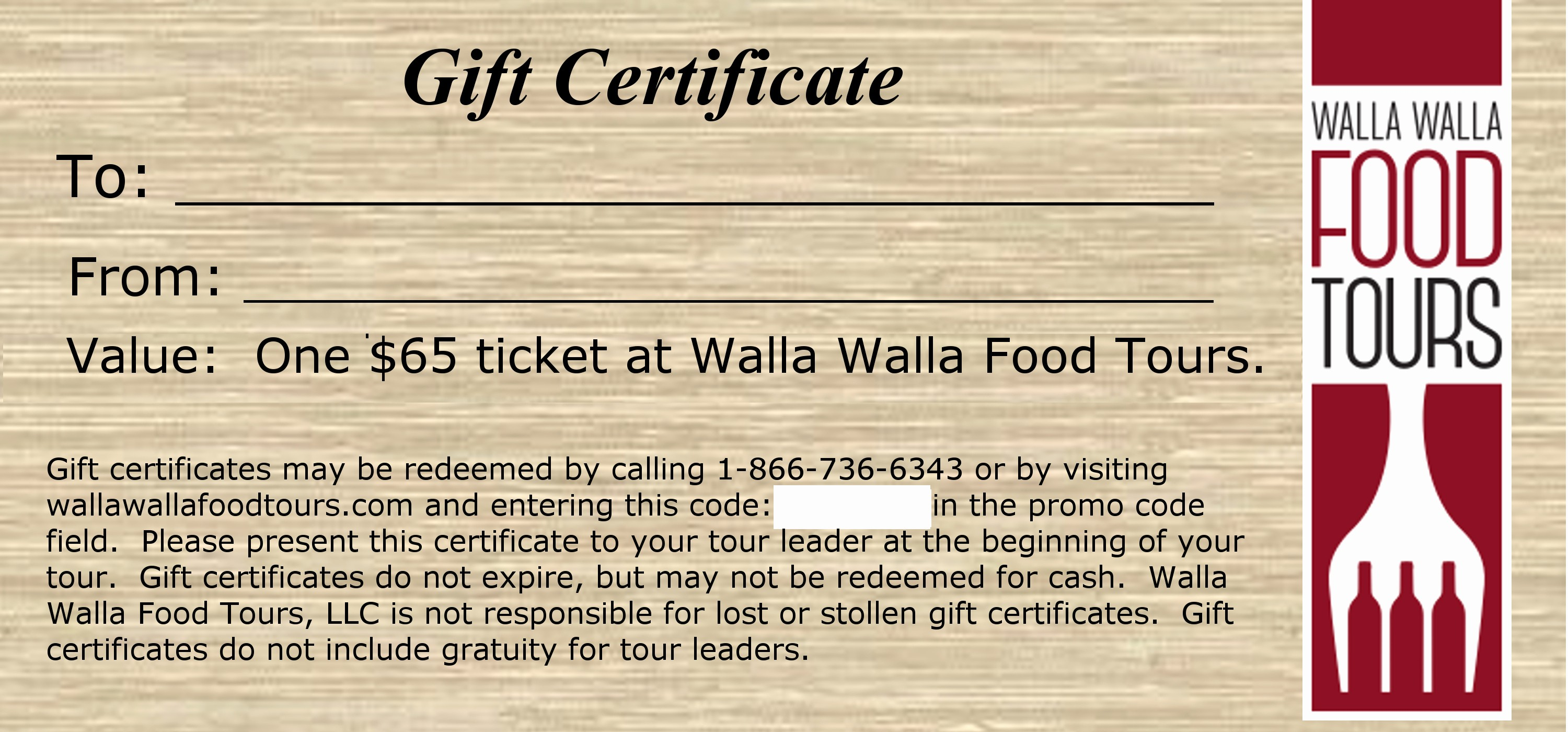 How to Make Gift Certificate Luxury Gift Certificates Walla Walla Food tours