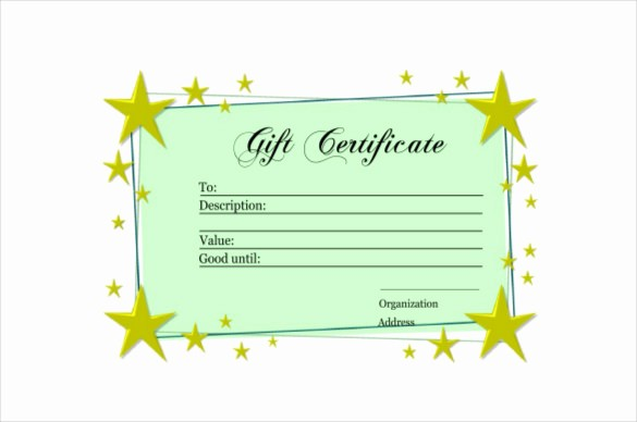 How to Make Gift Certificate New 6 Homemade Gift Certificate Templates Doc Pdf