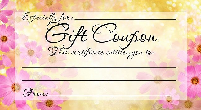 How to Make Gift Certificate Unique 28 Cool Printable Gift Certificates