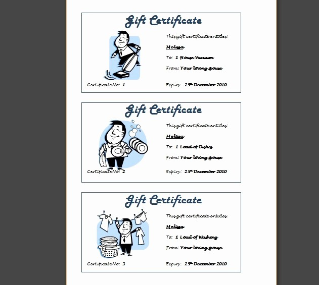 How to Make Gift Certificate Unique 8 Best Of Print Your Own Gift Certificates Make