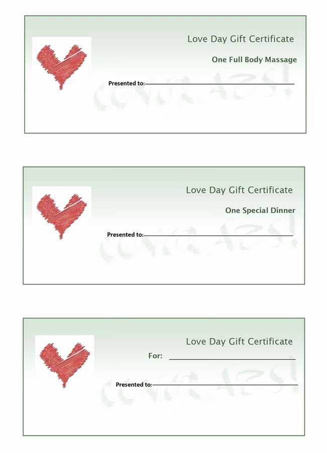 How to Make Gift Certificates Awesome 9 Best Of Make Your Own Gift Certificates Free