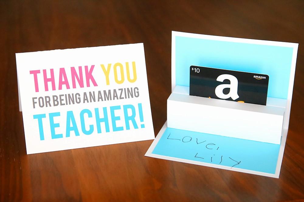 How to Make Gift Certificates Beautiful Diy Teacher Appreciation Pop Up T Card Holder It S
