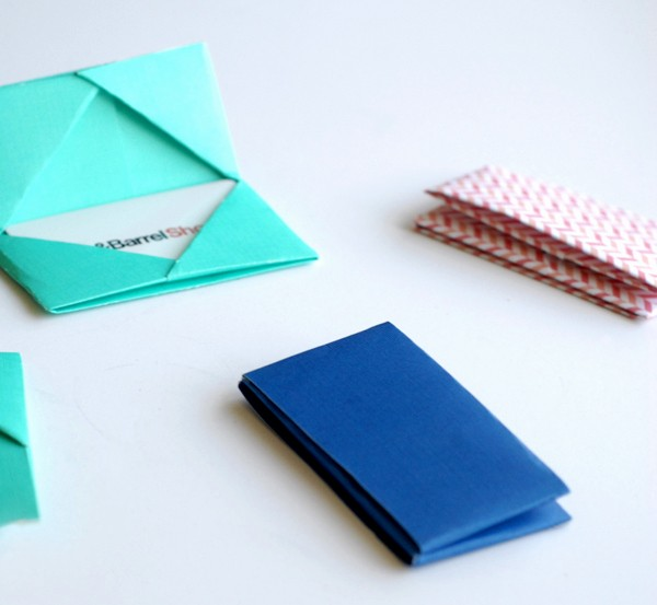 How to Make Gift Certificates Fresh Paper Folded T Card Holders • A Subtle Revelry