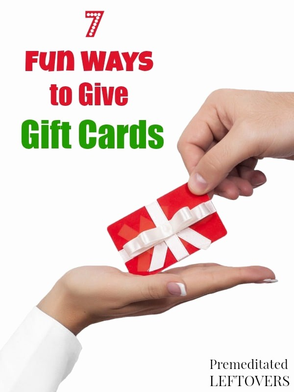 How to Make Gift Certificates Lovely 7 Fun Ways to Give Gift Cards