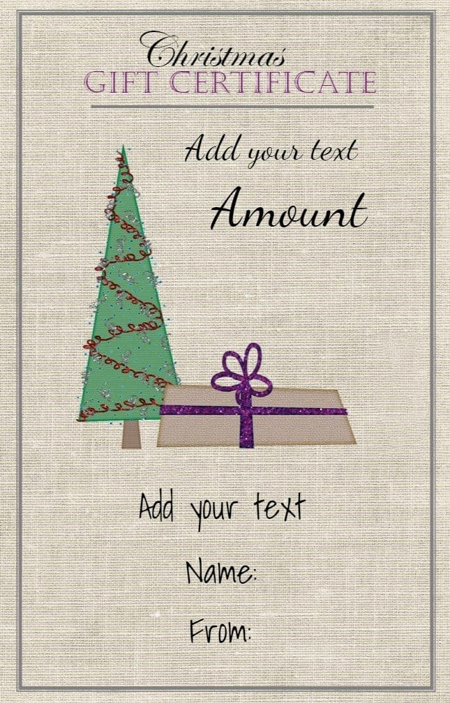 How to Make Gift Certificates Lovely Free Christmas Gift Certificate Template