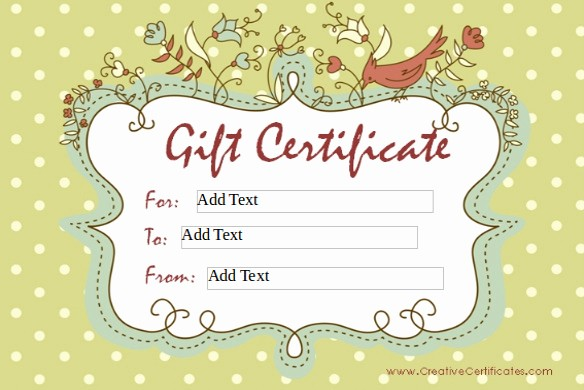 How to Make Gift Certificates Luxury 8 Homemade Gift Certificate Templates Doc Pdf
