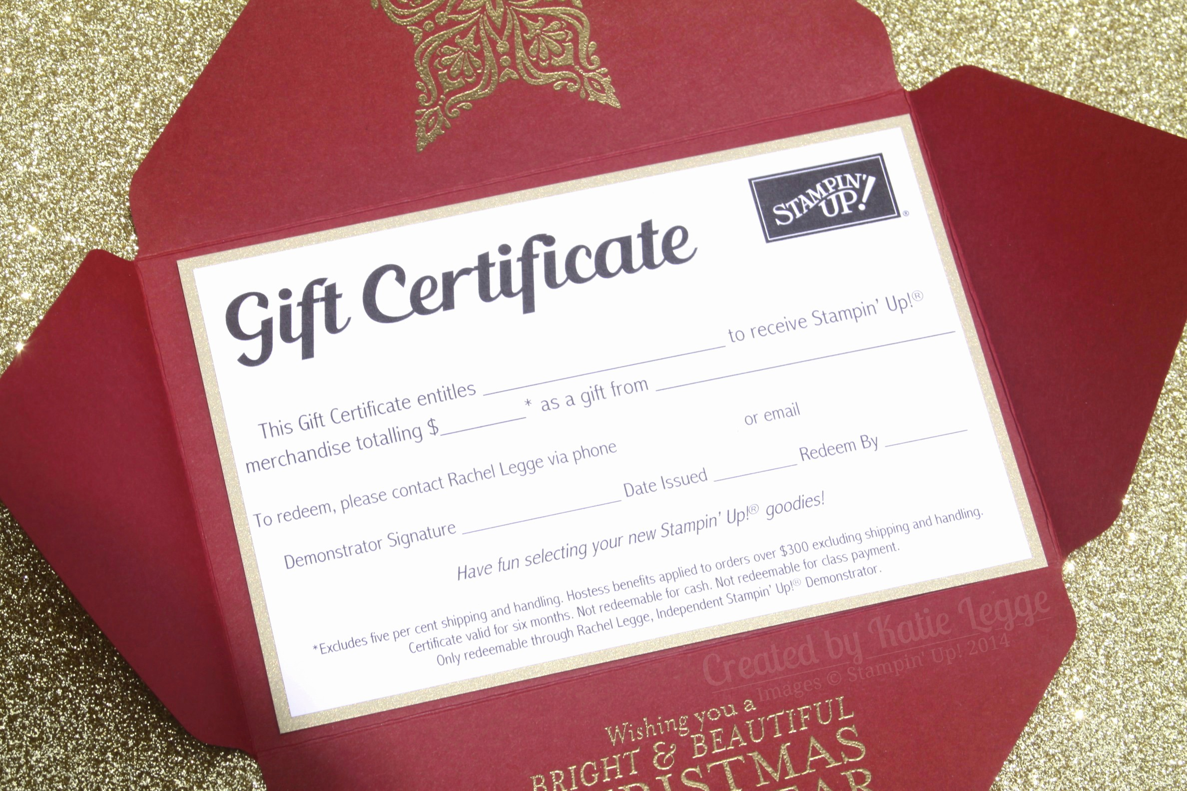 How to Make Gift Certificates Luxury Gift Certificates now Available