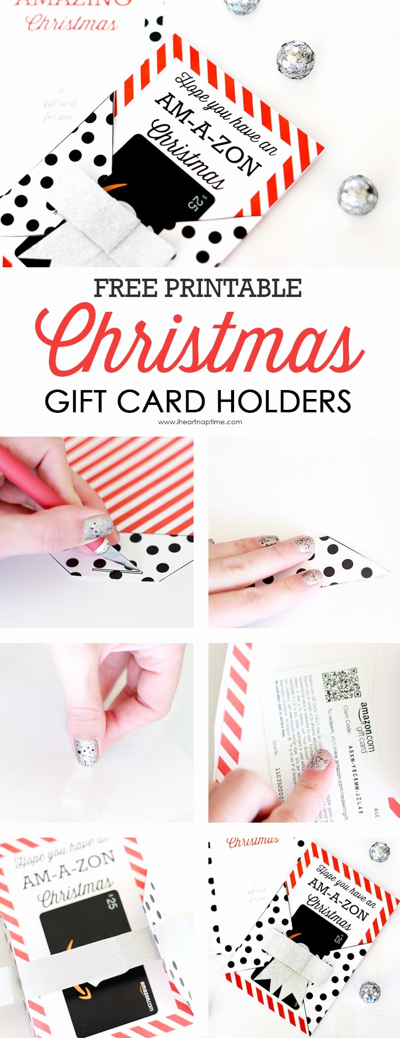 How to Make Gift Certificates Unique Free Printable Christmas Gift Card Holders I Heart Nap Time