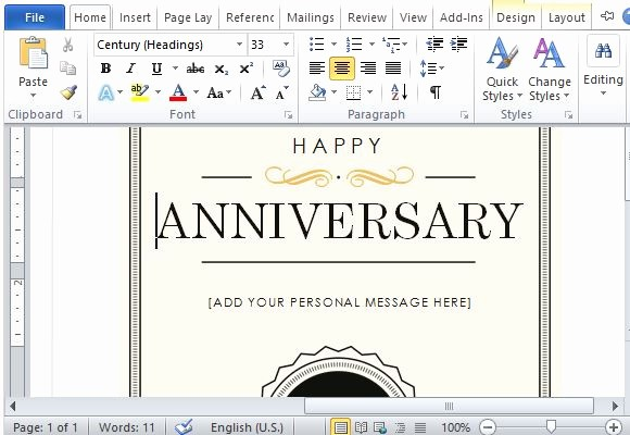 How to Make Gift Certificates Unique How to Create A Printable Anniversary Gift Certificate