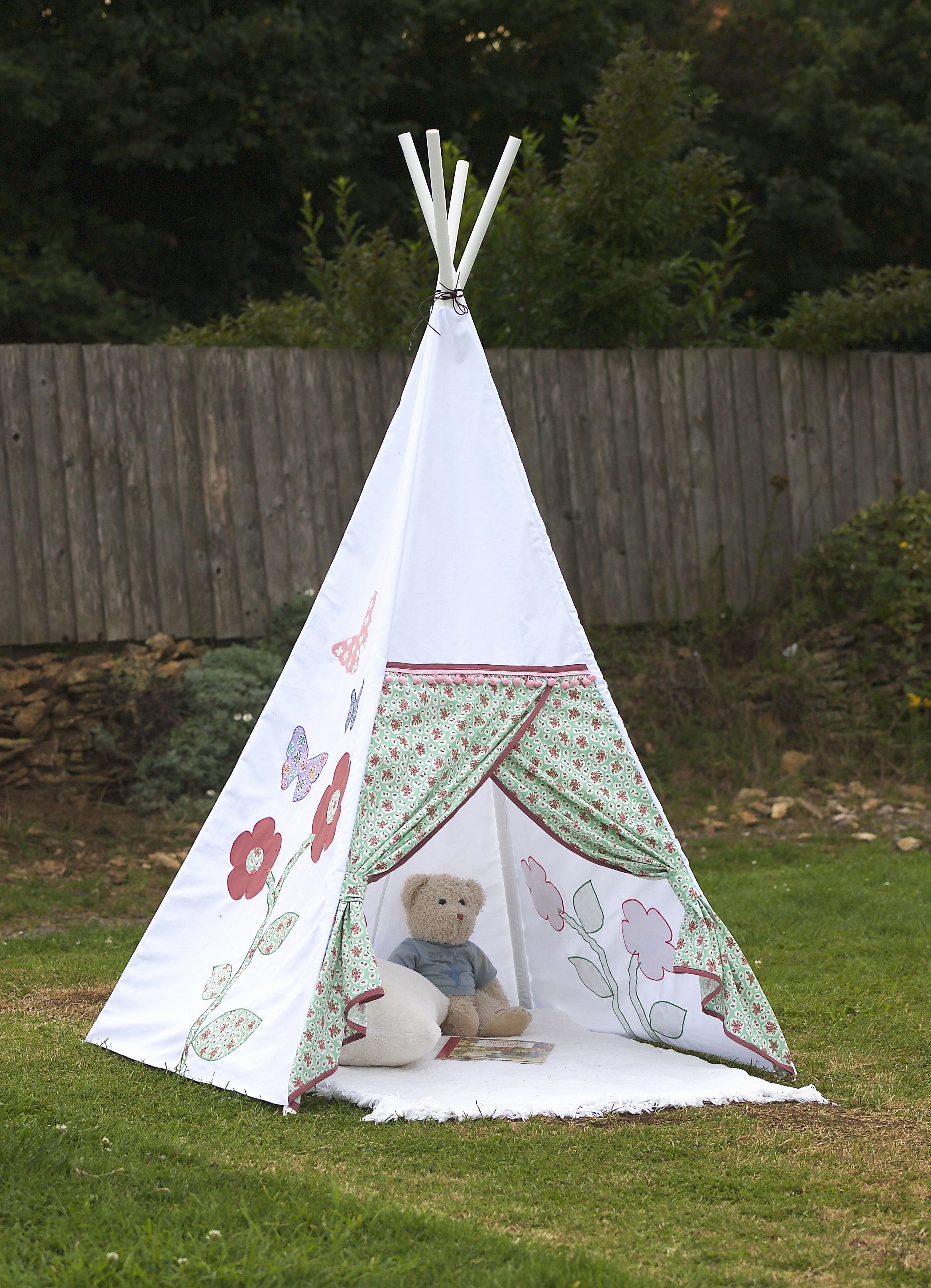 How to Make Name Tents Elegant How to Make A Child's Teepee Wigwam