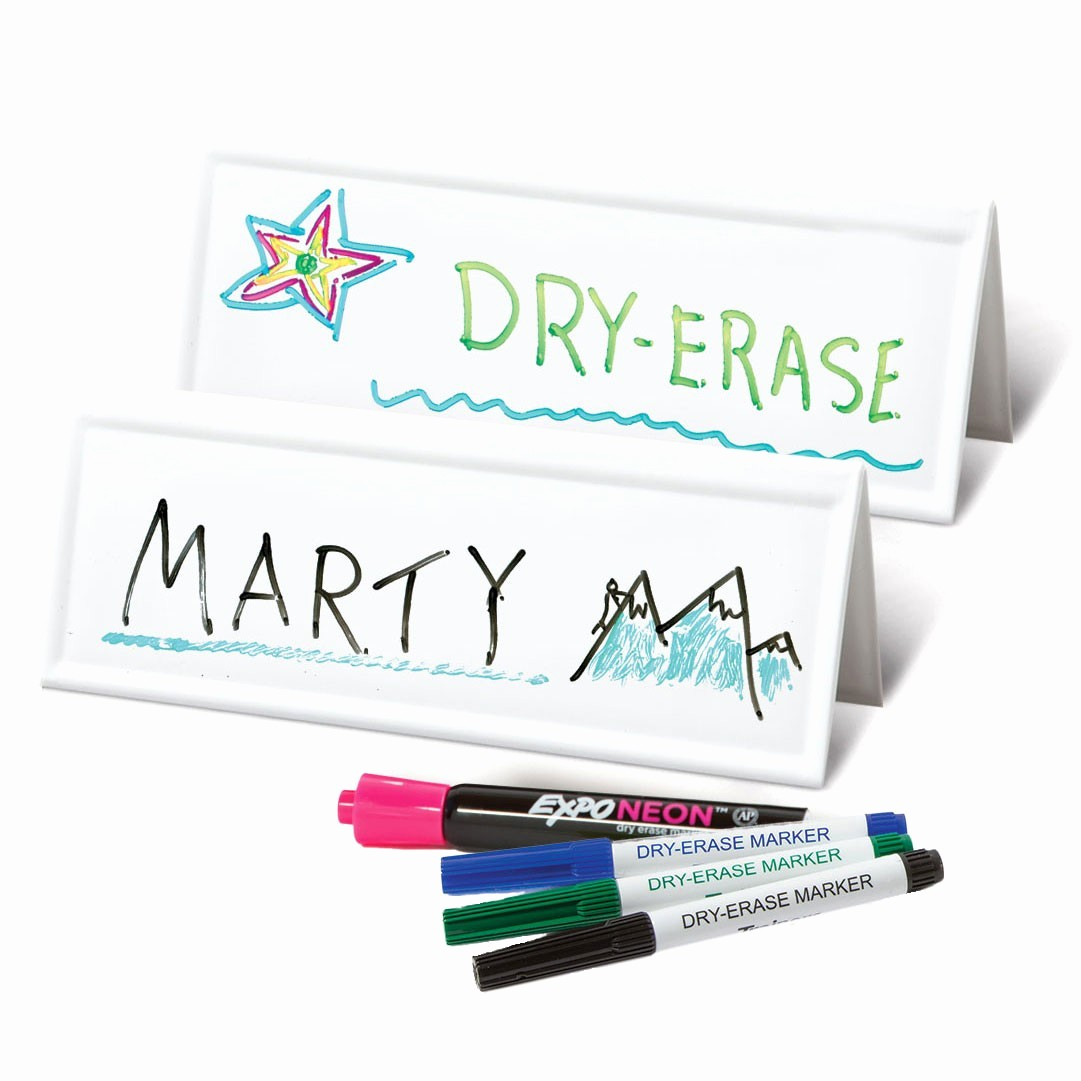 How to Make Name Tents Lovely original Reusable Name Card Two Sided Dry Erase Tents