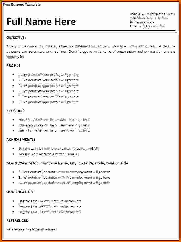 How to Make Simple Resume Best Of 9 How to Make A Simple Cv for Job