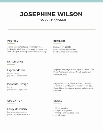 How to Make Simple Resume Elegant Customize 527 Simple Resume Templates Online Canva