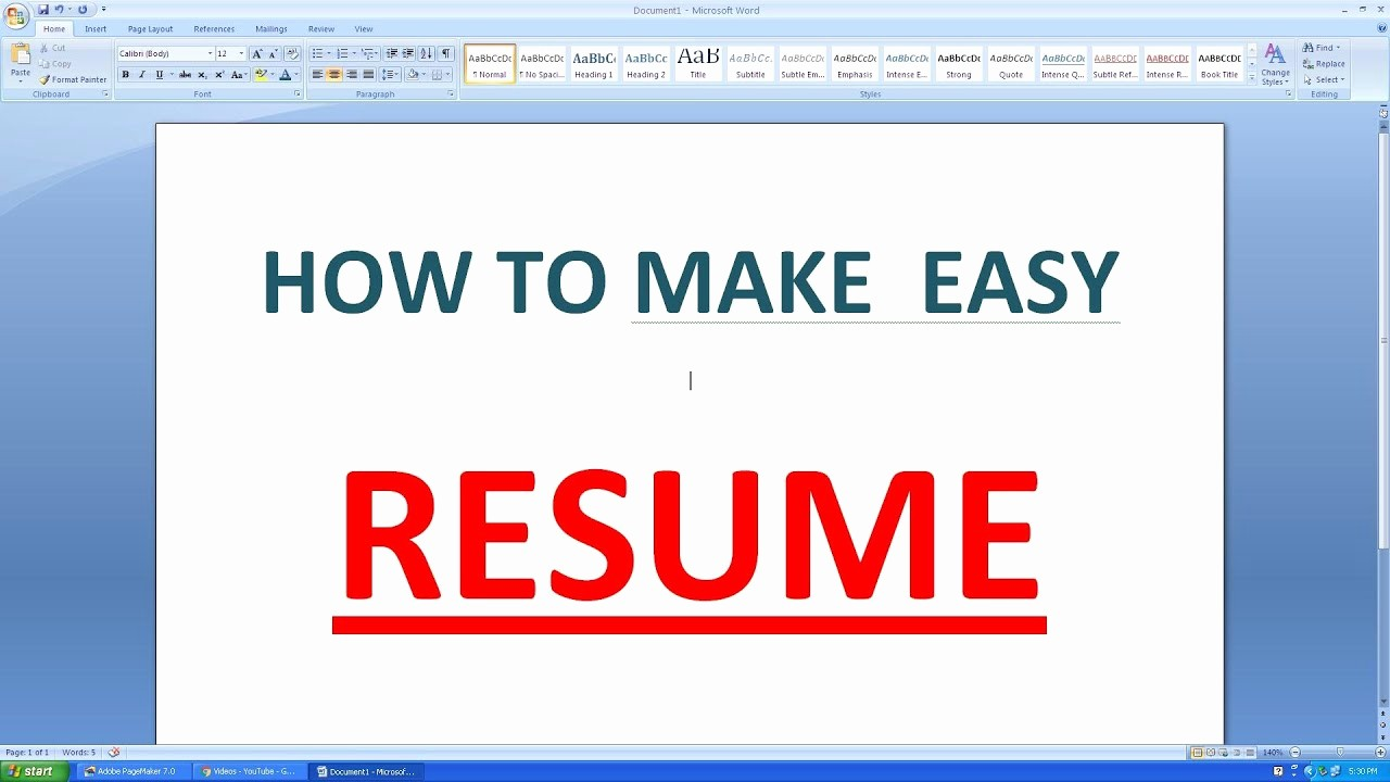 How to Make Simple Resume Inspirational How to Make An Simple Resume In Microsoft Word